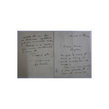 GRIGORIE TRANCU - IASI , SCRISOARE CATRE N. ANGELESCU , BUCURESTI 12 FEBRUARIE 1939