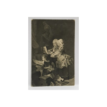 H. SCHNEIDER , MOZART SI SORA SA LA CLAVECIN , CARTE POSTALA ILUSTRATA , MONOCROMA, ADRESATA DOMANEI ALICE PETRE I. STURDZA , CIRCULATA . 1913