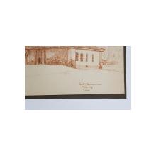 HAN VECHI IN PECHEA - JUDETUL COVURLUI , DESEN ORIGINAL DE CONST. N. POPESCU , DATAT 1917