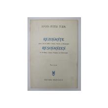 HANS PETER TURK - REZONANTE - PENTRU 24 DE SUFLATORI , CELESTA , VIBRAFON SI GLOCKENSPIEL , PARTITURA , 1983