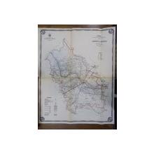 Harta cailor de comunicatie din Judetul Buzau 1916