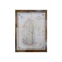 Harta cailor de comunicatie din Judetul Covurlui 1916