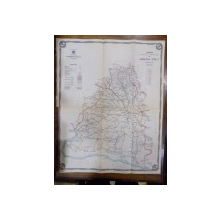 Harta cailor de comunicatie din Judetul Dolj anul 1915
