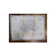 Harta cailor de comunicatie din Judetul Dorohoi anul 1915