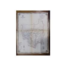 Harta cailor de comunicatie din Judetul Gorj 1915