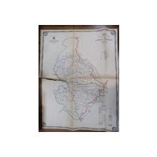 Harta cailor de comunicatie din Judetul Mehedinti 1915