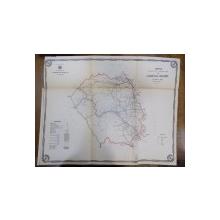 Harta cailor de comunicatie din Judetul Neamt 1915