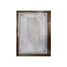 Harta cailor de comunicatie din Judetul Olt 1915