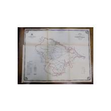 Harta cailor de comunicatie din Judetul Ramnicu Sarat 1915