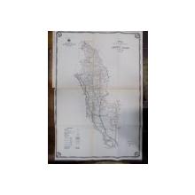 Harta cailor de comunicatie din Judetul Tecuci 1916