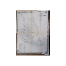 Harta cailor de comunicatie din Judetul Teleorman 1916