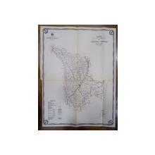 Harta cailor de comunicatie din Judetul Tutova 1916