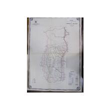 Harta cailor de comunicatie din Judetul Valcea 1916
