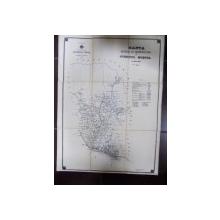 Harta cailor de comunicatie Judetul Muscel, 1908