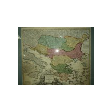 Harta Dunarii si Arhipelagurile Grecesti, Johann Baptist Homann 1710