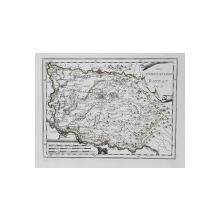 HARTA  Franz Johann Joseph von Reilly- DAS TEMESCHVARER BANNAT - BANATUL TIMISOAREI , GRAVURA  CU INTERVENTII COLOR MANUALE , SECOLUL XVIII