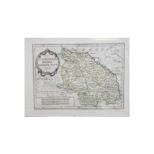 Harta Moldovei, Joseph von Reilly - Gravura colorata, 1791