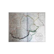 Harta Moldovei, Valahiei si Basarabiei de I. F. Schmed, - Gravura, 1787