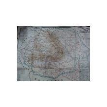 Harta Romaniei Mari, intocmita de Maior Georgescu  Ioan 1930