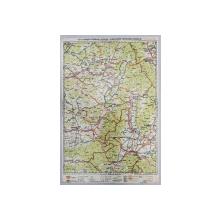 HARTA ZONEI BRASOV - FAGARAS - ODORHEI - SF. GHEORGHE - MIERCUREA CIUCULUI , LITOGRAFIE de M.D MOLDOVEANU , 1936