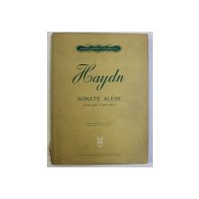 HAYDN , SONATE ALESE PENTRU PIAN LA DOUA MIINI , editie revazuta dupa textul original de CARL ADOLF MARTIENSSEN , 1966