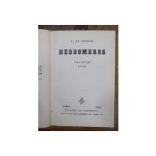 Hebdomeros, Paris 1929