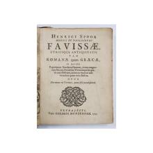 HENRICI SPOOR MEDICI ET PHILOSOPHI FAVISSAE UTRIUSQUE ANTIQUITATIS TAM ROMANAE QUAM GRAECAE ... , 99 DE GRAVURI ,  1707