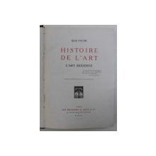 HISTOIRE DE L ' ART - L ' ART MODERNE par ELIE FAURE , 1924