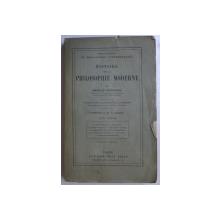 HISTOIRE DE LA PHILOSOPHIE MODERNE par HARALD HOFFDING , TOME PREMIER , 1924