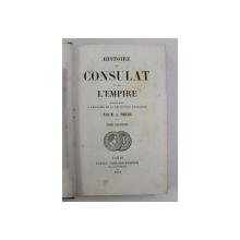 HISTOIRE DU CONSULAT ET DE L ' EMPIRE par M.A . THIERS , TOME SEPTIEME , 1847