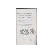 HISTOIRE NATURELLE, GENERALE ET PARTICULIERE DES REPTILES par F. M. DAUDIN, TOM. I - PARIS, 1802