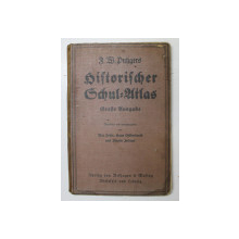 HISTORISCHER SCHUL - ATLAS von F.W. BUKGERS  - ( ATLAS ISTORIC SCOLAR ) , 1934, COTORUL LIPIT , COPERTA CU HALOURI DE APA SI URME DE UZURA *