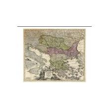 HOMANN, Johann Baptist. Fluviorum in Europa principis Danubii cum adiacentibus Regnis