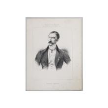 HORACE VERNET , GRAVURA PE METAL , IMP. D' AUBERT et Cie. , MIJLOCUL SEC. XIX