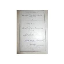 HORE SI CHIUITURI DIN BUCOVINA ADUNATE DE J.FL. MARIAN    - BUCURESTI 1910