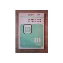 HORTICULTURA SI VITICULTURA de ELENA FLORESCU ... T. GROZA , MANUAL PENTRU CLASA A XI-A , 1989