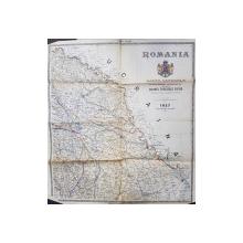 IASI , FOAIA A III -A , HARTA de COLONEL V. TANASESCU  , SCARA 1 / 400.000 , 1927