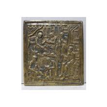 Icoana din bronz, Adoratia Magilor, Rusia  Sec. XIX.