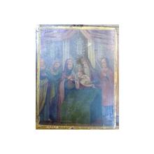 Icoana pe lemn romaneasca , Intampinarea Domnului Iisus Christos , Sec. XIX