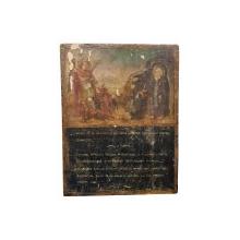Icoana pe lemn, Romaneasca - Sf. Mihail si Sf. Sisoe, Secol XIX