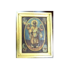 Icoana romaneasca pe lemn , Sf. Nicolae , sec XIX