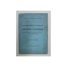 IMAGINEA POETICA COLORATA la ALEXANDRU MACEDONSKI de V.G. PALEOLOG , 1944 , DEDICATIE*