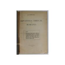 IMPOZITELE DIRECTE DIN ROMANIA de C . TAUTU , 1939