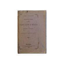 INCERCARI CRITICE ASUPRA UNORU CREDINTE, DATINE SI MORAVURI ALE POPORULUI ROMANU de G. DEM. TEODORESCU, BUC. 1874