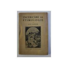 INCERCARI DE ETIMOLOGIE ED. a - II - a REVAZUTA SI ADAUGITA de AVE CAESAR