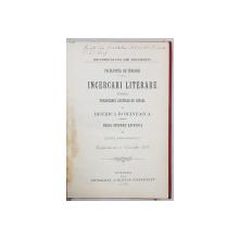 INCERCARI LITERARE ASUPRA TRADUCEREI CARTILOR DE RITUAL IN BISERICA ROMANEASCA, TESA PENTRU LICENTA - BUCURESTI, 1895