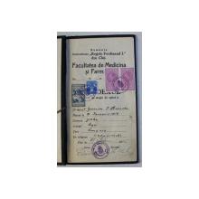 INDEXUL DE STAGIU DE SPITAL AL STUDENTULUI MEDICINIST EPURESCU I. ALEXANDRU , 1935