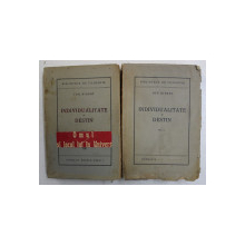 INDIVIDUALITATE SI DESTIN de ION BIBERI 2 VOLUME ,1945