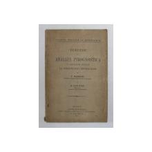 INDRUMARE IN ANALIZA PIROGNOSTICE CU APLICATIUNI SPECIALE LA DETERMINAREA MINERALELOR de G. MURGOCI si D. DUMITRIU , 1923