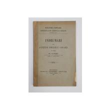 INDRUMARI DATE AGENTILOR DOMENIULUI COROANEI DE CATRE ION KALINDERU - BUCURESTI, 1900